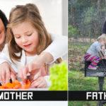 Barbatii cu barbatii iar femeile cu … copiii si cu grijile lor